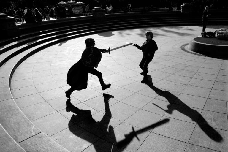 shadow fighting