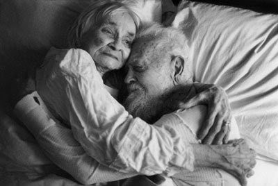 love elderly couple