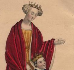 Joan 'The Fair Maid of Kent' & son King Richard II