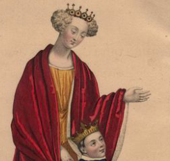 Joan 'The Fair Maid of Kent' & son King Richard II